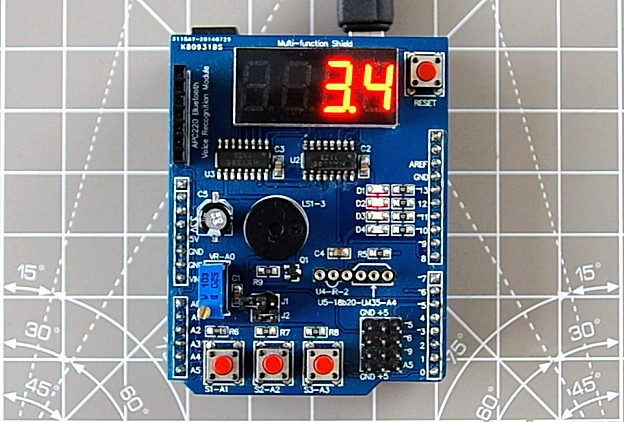 Arduino metronome using multi-function shield.